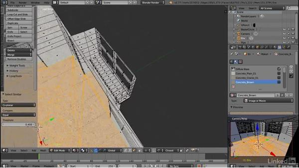 Layer painting the floor: Blender: Interior Environments for Games