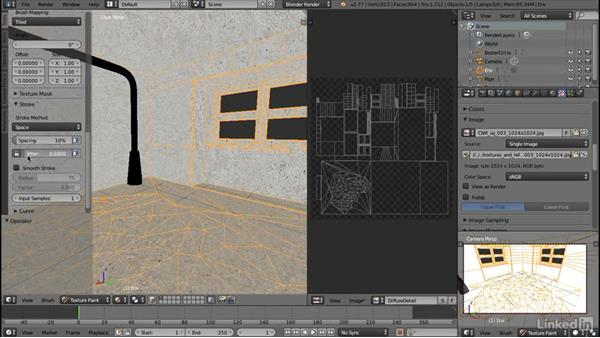 Painting a detail layer: Blender: Interior Environments for Games