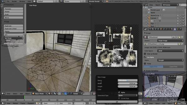 Baking texture layers: Blender: Interior Environments for Games
