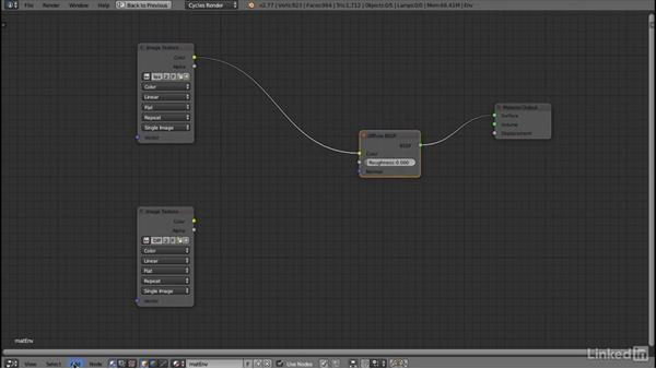 Configuring a cycles material: Blender: Interior Environments for Games