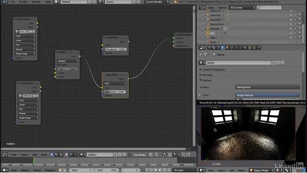 Refining the environment material: Blender: Interior Environments for Games