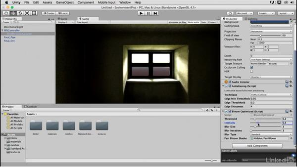 Finalizing the project: Blender: Interior Environments for Games