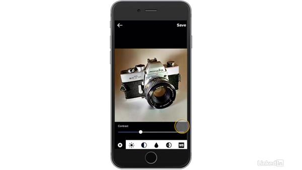 Use the adjustment sliders: Flickr Mobile: Photo Sharing Anywhere