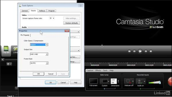 Exploring Camtasia Recorder options: Learn Camtasia: Advanced Techniques