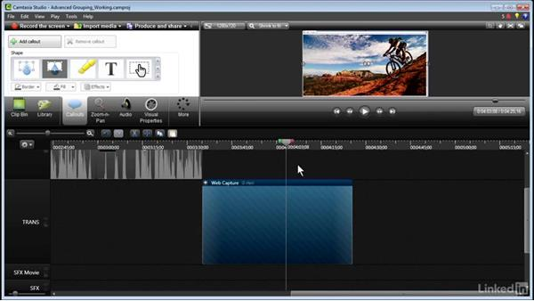 Advanced grouping: Part 2: Learn Camtasia: Advanced Techniques