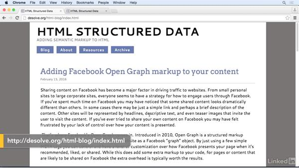 The benefits of Open Graph: HTML Structured Data: Facebook Open Graph