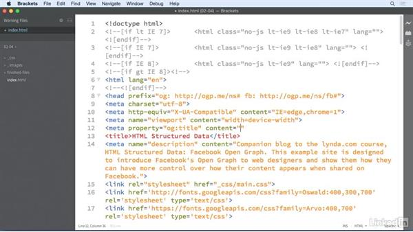 Adding a title: HTML Structured Data: Facebook Open Graph