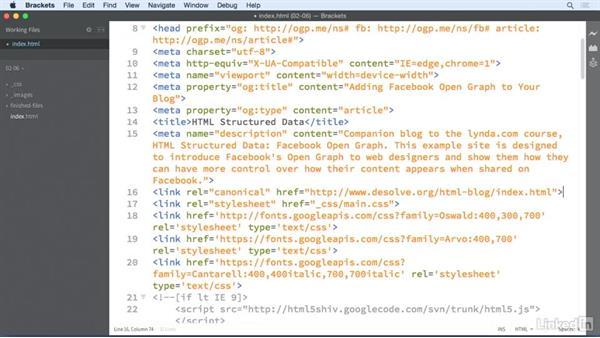 Adding a URL: HTML Structured Data: Facebook Open Graph