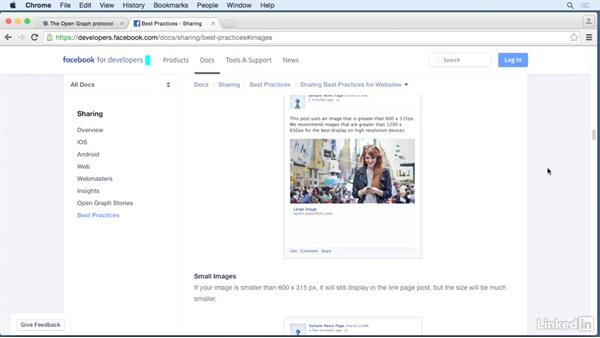 Image considerations: HTML Structured Data: Facebook Open Graph