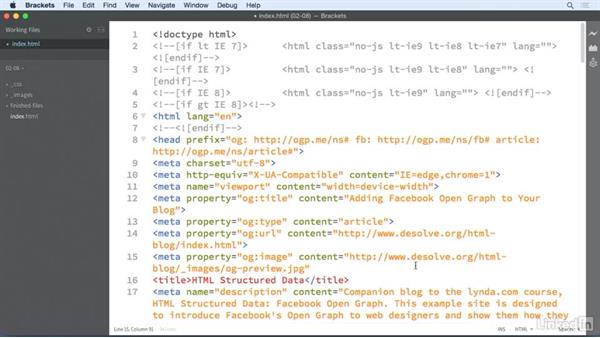 Adding an image: HTML Structured Data: Facebook Open Graph