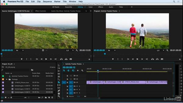Edit the sequence in Adobe Premiere: After Effects: Compositing a Cell Phone