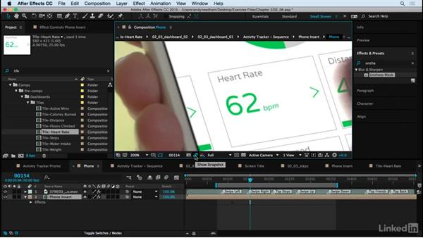 Add finishing touches: After Effects: Compositing a Cell Phone