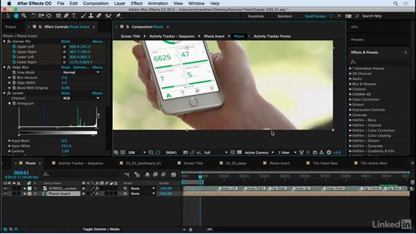 Render the phone shot: After Effects: Compositing a Cell Phone