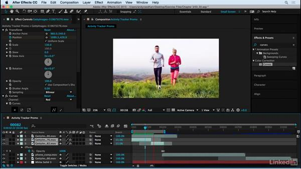 Color correct the footage: After Effects: Compositing a Cell Phone