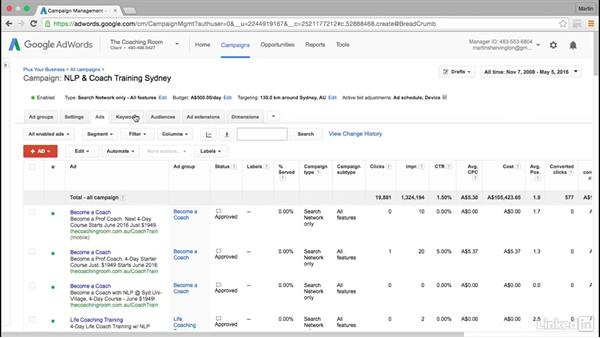 Overview of advanced Google AdWords: Intermediate Google AdWords