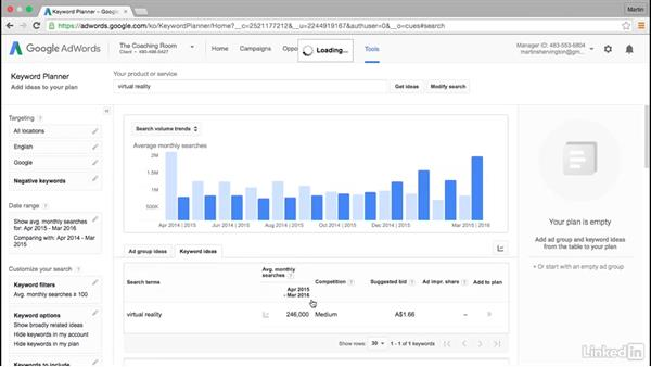 Advanced use of Keyword Planner: Intermediate Google AdWords