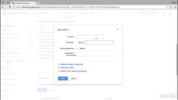 How to add sitelinks to your ads: Intermediate Google AdWords