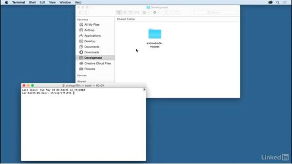Set up system for Android development for Mac: Learn Apache Cordova: The Basics