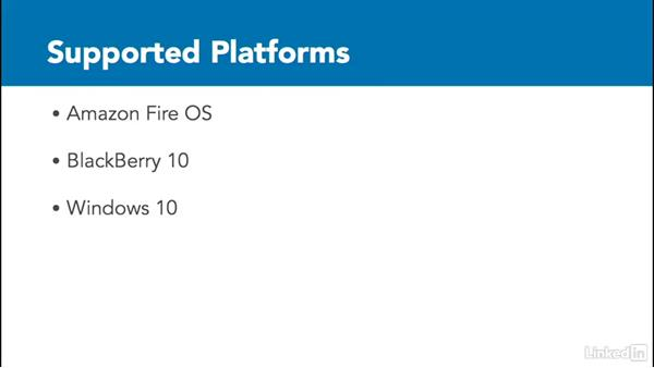 Other supported platforms: Learn Apache Cordova: The Basics