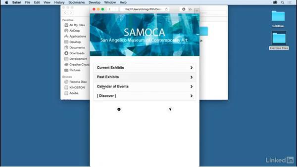 Explore the sample app: Learn Apache Cordova: The Basics
