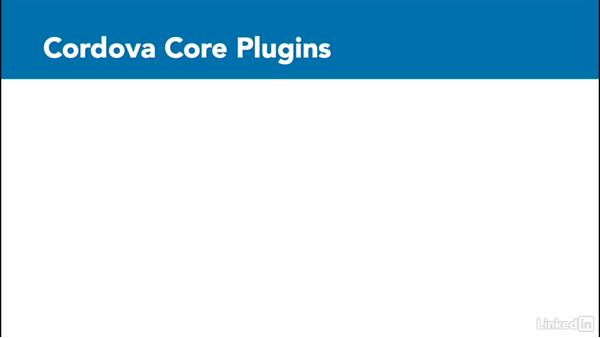 Configure application plugins: Learn Apache Cordova: The Basics