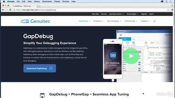 Debug with GapDebug: Learn Apache Cordova: The Basics