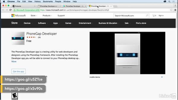 The PhoneGap desktop app: Learn Apache Cordova: The Basics