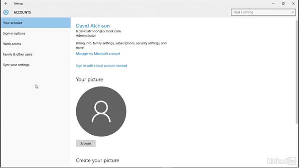 Use a picture password: Windows 10: Manage Identity
