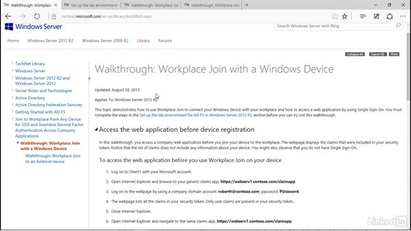 Use Workplace Join: Windows 10: Manage Identity