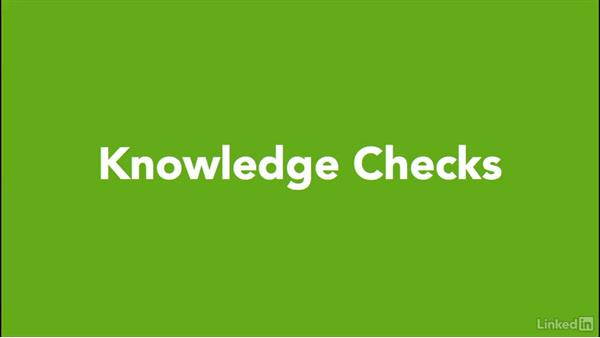 Using the knowledge checks: Excel Workshop: Working with Real-Time Data