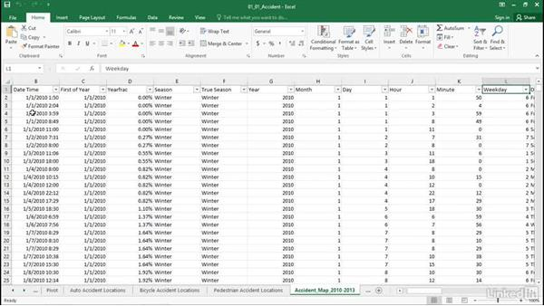 Download and explore files: Excel Workshop: Working with Real-Time Data