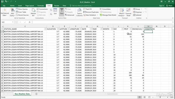 Categorize data: Excel Workshop: Working with Real-Time Data