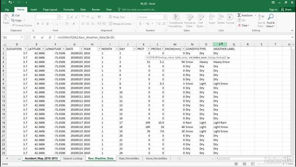 Combine VLOOKUP and MATCH to join data: Excel Workshop: Working with Real-Time Data