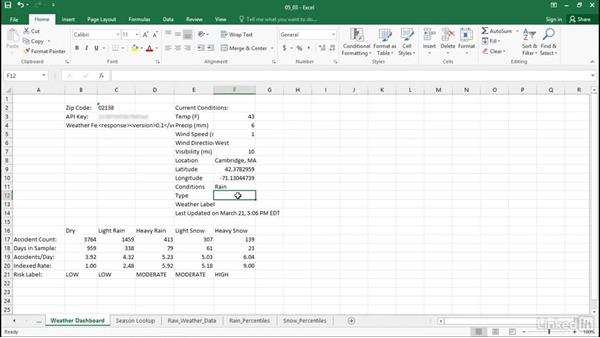 Categorize real-time data: Excel Workshop: Working with Real-Time Data