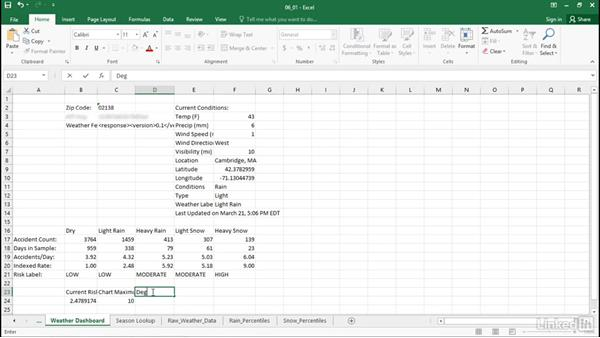 Generate dynamic chart source data: Excel Workshop: Working with Real-Time Data