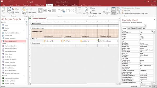 Apply conditional formatting rules: Access 2016: Forms and Reports in Depth
