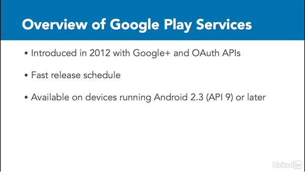 Overview of Google Play services: Google Play Services For Android