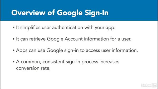Use Google Sign-In: Google Play Services For Android