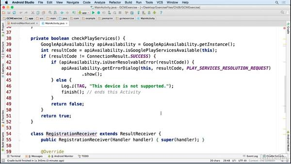 Implement the GCM logic: Google Play Services For Android