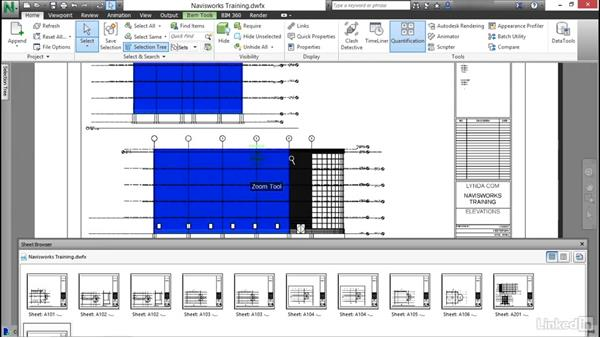 Select and take off objects in a DWF: Navisworks Quantification