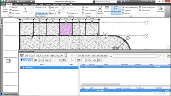 Adding and backing out areas: Navisworks Quantification