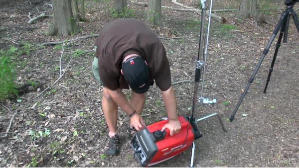 Using a generator: DSLR Video Tips: Lighting
