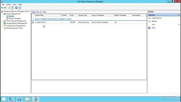Configure quotas: Windows Server 2012 R2: Configure File Services