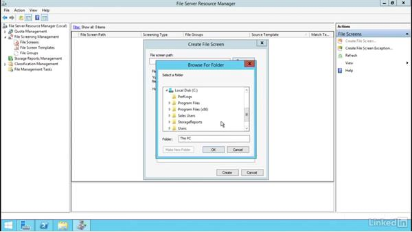 Configure file screens & reports: Windows Server 2012 R2: Configure File Services