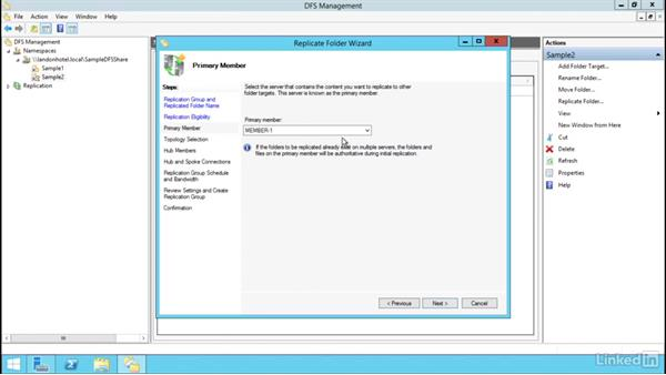 Configure DFS replication: Windows Server 2012 R2: Configure File Services