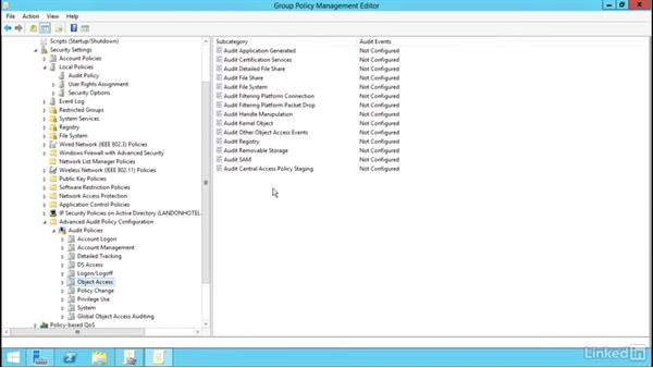 Advanced audit policy settings: Windows Server 2012 R2: Configure File Services