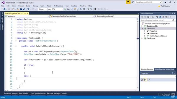 Create a simple test: Visual Studio 2015 Essentials 09: Unit Tests