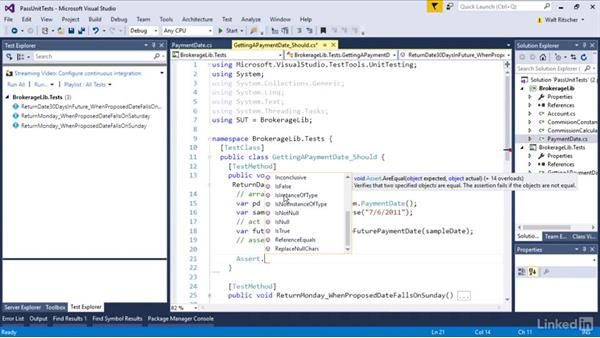 Modify code to pass test: Visual Studio 2015 Essentials 09: Unit Tests