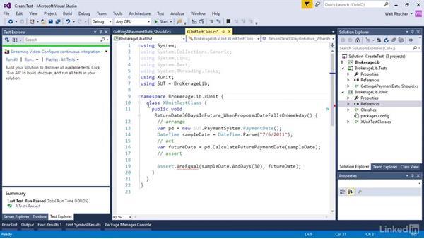Create and run a unit test: Visual Studio 2015 Essentials 09: Unit Tests