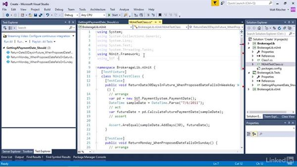 Create and run a unit test: Visual Studio 2015 Essentials 09: Unit Tests